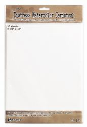 Tim Holtz Distress Watercolor (Watercolour) Cardstock - 8.5x11 - 10 Sheets